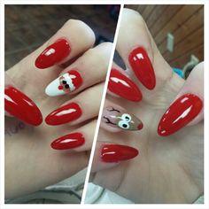 Christmas nails by ciarra mills #christmasnails #ciarramills