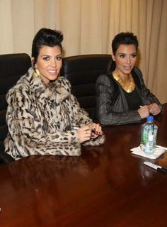 The Kardashian sisters sign new book