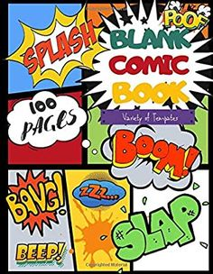 Comic Book Maker, Blank Comic Book, Comic Books, Create Your Own Comic, Create Your Own Story, Comic Book Template, Journal Notebook, Book Authors, Book Making