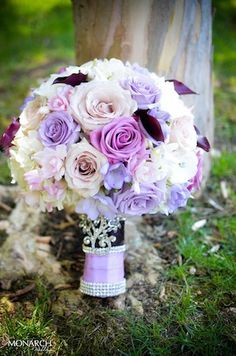 Beautiful Purple Bouquet by.  @Splendid Sentiments flowers and gifts  #bouquet #purplebouquet. Wedding planner: www.monarchweddings.com