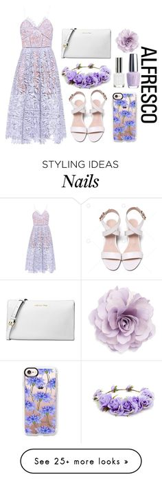 """Lavender Breeze"" by pokeygirlllll on Polyvore featuring self-portrait, Michael Kors, Forever 21, Casetify, OPI, Topshop and Cara"