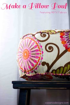 How to make a pouf. I need to make one of these!