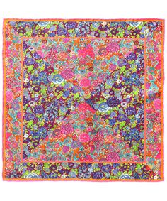 Pink Elysian Quadrant Print Silk Neckerchief, Liberty London Scarves. Shop the latest silk scarves from the Liberty London Scarves collection online at Liberty.co.uk