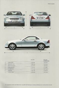 Mercedes SLK brochure 1999 - I used to have this car and loved it! Mercedes Benz Coupe, Mercedes Benz Sports Car, Mercedes Benz C180, Mercedes Sprinter, Ferrari, Classic Mercedes, Cars Birthday Parties, Vw Passat, My Ride