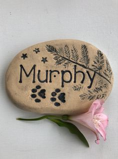 """Thanks for the kind words! ★★★★★ """"Another beautiful stone grave marker from a very talented maker. Arrived quickly and was lovingly wrapped and packaged. I appreciate the care you took with it, thank you. Dog Shadow Box, Pet Memorial Stones, Pocket Pet, Remembrance Gifts, Cat Dog, Outdoor Sculpture, Pet Loss, Memorial Gifts, Garden Stones"""
