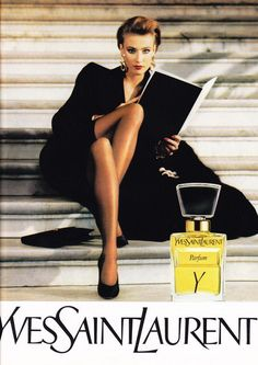 Y Yves Saint Laurent perfume - a fragrance for women 1964 Vintage Ysl, Vintage Perfume, Vintage Beauty, Vintage Fashion, Vintage Couture, Retro Advertising, Vintage Advertisements, Anuncio Perfume, Perfume Adverts