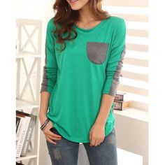- Material: Cotton - Clothing Length: Regular - Sleeve Length: Full - Collar: Scoop Neck - Style: Casual - Pattern Type: Patchwork - Weight: 0.230kg - Package Contents: 1 x T-shirt