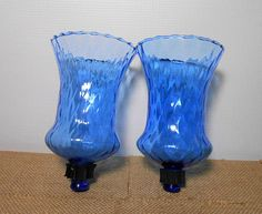 Your place to buy and sell all things handmade Sconces, Glassware, Candles, Candlesticks, Tea Lights, Glass Set, Glass, Vintage, Vintage Candle Holders