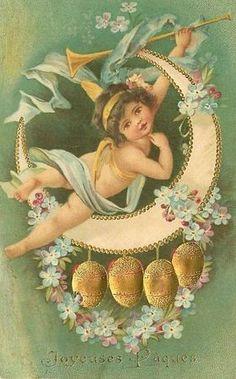 lief Paas Engeltje Paas postkaart,...................lb