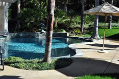 One of the gorgeous local pools we've worked on here in Northern California's Bay Area -- how relaxing! Swimming Pool Repair, Swimming Pools, Aqua Pools, Northern California, Bay Area, Outdoor Decor, Swiming Pool, Pools