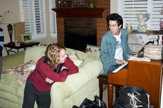 Nat Wolff and Jack Kilmer on the set of the film Palo Alto, directed by Gia Coppola and based on the stories by James Franco (2013)