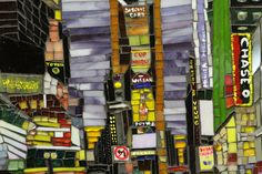 "Glass mosaic, ""My kind of town"""
