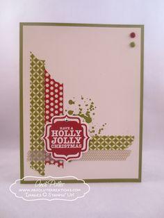 Holly Jolly Washi Tape Christmas Card   Andi Potler
