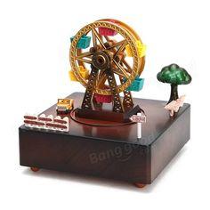Only US$15.67, buy best Dynamic Rotation Clockwork Music Box Windmill Waterwheel Ferris Wheel  sale online store at wholesale price.US/EU warehouse.