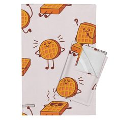 Orpington Tea Towels featuring Waffles! by xinling   Roostery Home Decor