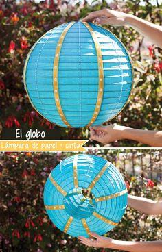 Centro de mesa globo aerostático paso a paso | Tarjetas Imprimibles