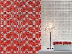Pop Up // red ceramic mosaics by Fap Ceramiche