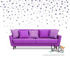 Baby Nursery Decals star confetti wall decals set of 129 Use your creativity to create any pattern you like on one accent wall or a whole room. Gives the look or wallpaper or stencils without the mess and fuss. First photo with star swirl was created using one set. Full wall Ombre