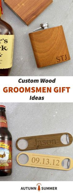 Custom Wood Groomsmen Gift Ideas | great gifts for groomsmen, groom, and male friends