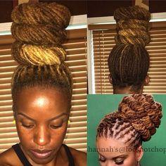 Dreadlock Styles, Dreads Styles, Dreadlock Hairstyles, Cool Hairstyles, Updo Styles, Natural Hair Care, Natural Hair Styles, Loc Updo, Locs