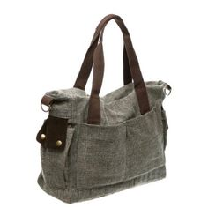 Sharru Nada Lady Canvas Vintage Tote Messenger & Cross body Shoulder Bag Handbag Coffee:Amazon:Clothing