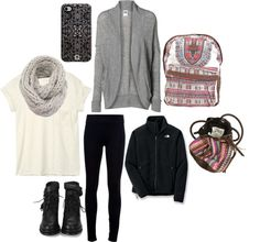 """school thursday"" by stylistcookies ❤ liked on Polyvore"