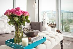 Flowers brighten ANY space:) www.jillianharris.com