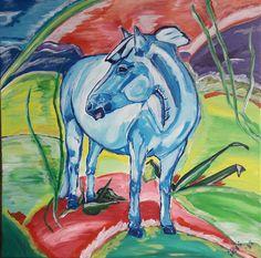 Blue horse, blue horses, Blaues Pferd, Acrylmalerei, Acrylicpainting, paintings, 2018 Painting, Art, Art Background, Painting Art, Kunst, Paintings, Performing Arts, Painted Canvas, Drawings