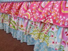3 Tiered Ruffle Crib Skirt  Your choice of fabrics by PLJdesign,