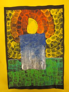 Christmas Art Projects, Winter Art Projects, Christmas Crafts For Kids, Kindergarten Art Projects, School Art Projects, Hanukkah Pictures, Preschool Art, Art Classroom, Elementary Art