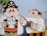 1957 to 1975 (UK)    Captain Pugwash is a fictional pirate - Captain Horatio Pugwash - sails the high seas near New Zealand in his ship the Black Pig, ably assisted by cabin boy Tom, pirates Willy and Barnabas, and Master Mate.