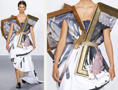 Balancing Frames and Canvas at Viktor & Rolf | The Cutting Class. Viktor & Rolf, Couture, AW15, Paris, Image 13.