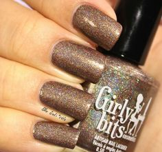 Just in time for St Paddy's Day!! Girly Bits | Is That a Shillelagh in Your Pocket? A gorgeous brown holo, loaded with gold and green shimmer!! www.girlybitscosmetics.com/new