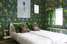 A bit too intense! Hotel Modez - Vlisco Wall Paper in the room.
