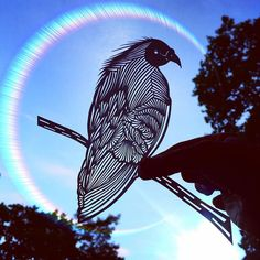 I Handcut Paper Animals And Use The Sky To Bring Them To Life   Bored Panda