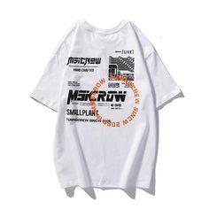 DESCRIÇÃO: Tipo de item:CamisetaEstilo:StreetwearForma:RegularMaterial:AlgodãoColarinho:O-NeckTipo de Tecido:BroadclothDimensões:Ombro x Largura do peito x Comprimento (cm)P - 52 x 108 x 70 cmM - 54 x 112 x 72 cmG - 56 x 116 x 74 cm GG - 58 x 120 x 76 cm Shirt Print Design, Tee Shirt Designs, Tee Design, Streetwear, Graphic Shirts, Printed Shirts, Graphic Tank Tops, Hang Ten, Apparel Design