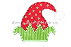 Elf Hat Machine Embroidery Applique Design by SimplySweetEmbroider