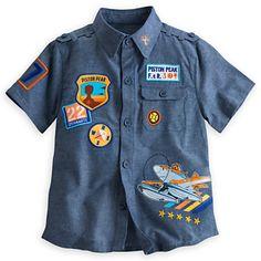 $22.95 disney store Dusty Crophopper Woven Shirt for Boys