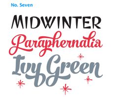 No. Seven on MyFonts