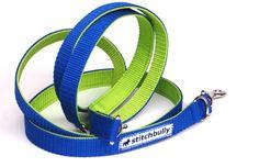 Sportline von stitchbully - Hunde Leine zweifarbig von stitchbully  auf DaWanda.com