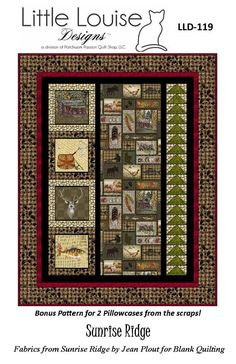 Quilt Pattern - Sunrise Ridge by Little Louise Designs - Throw / Twin size with Pillowcases - PDF IN