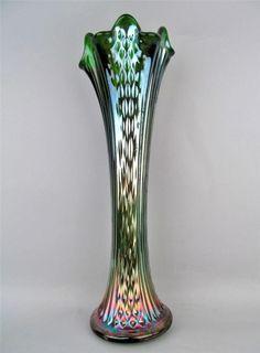 Fenton Green Carnival Glass.