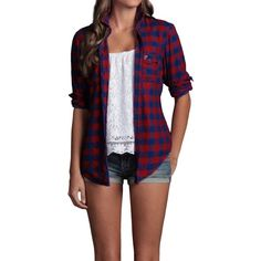 Hollister Co Pacific Flannel Shirt ($40) ❤ liked on Polyvore
