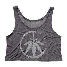 Peaceful Pot Grey on Grey Womens tank