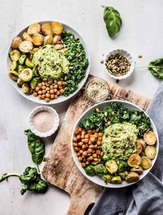 Easy Healthy Dinners, Healthy Salads, Vegan Dinners, Easy Dinner Recipes, Healthy Eating, Healthy Food, Clean Eating, Green Goddess, Perfect Food