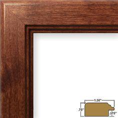 Craig Frames Mossehaus, Contemporary Walnut Brown Picture Frame (14031)