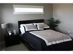 Master suite - black, grey, & tan Master Bedrooms, Master Suite, Homes, Grey, Places, Furniture, Home Decor, Gray, Houses