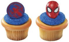 24 ~ Spider-Man Mask and Spider Rings ~ Designer Cake/Cupcake Topper ~ New!!!!! ** New and awesome product awaits you, Read it now : : Baking tools