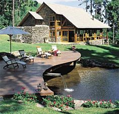 Architecture – Enjoy the Great Outdoors! Pond Design, Garden Design, Lake Landscaping, Natural Swimming Pools, Ponds Backyard, Cabin Homes, Home Fashion, Outdoor Gardens, Style At Home