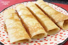 Norwegian Pancakes – A Christmas Morning Tradition      4 eggs     1/2 cup warm water     1 teaspoon vanilla     1/3 cup sugar     1/3 cup melted butter     1 1/4 cup flour     1 cup milk